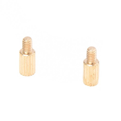 TOOGOO(R) 50 Pcs Male to Female Thread Brass Pillars Standoff Spacer M2x5mmx8mm