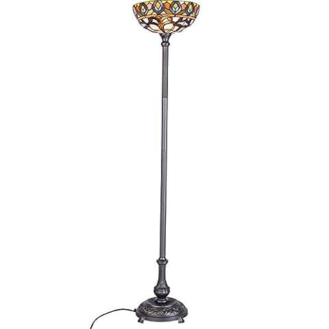 QIRUI 8805 Lampe de sol rétro avec teinte