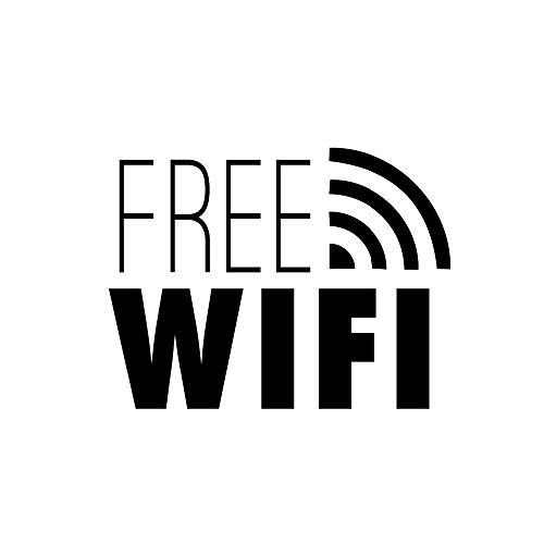 Pegatina pared 3d etiqueta pared Wifi gratis Cartel