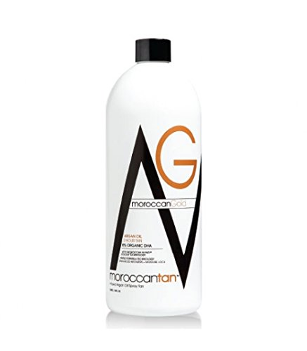 Moroccan Tan Gold - 1 Liter - Spray Tanning Lotion 8% DHA (Dreifach-bronzer)