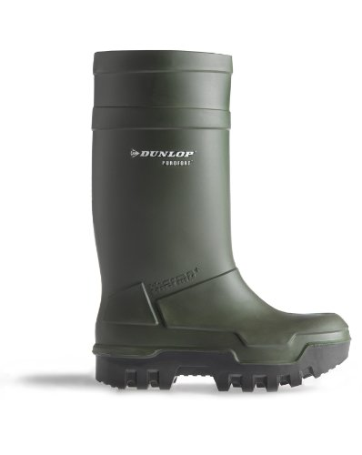 Dunlop C662933 Purofort Thermo + Full Safety Wellington Wellingtons PU - Green