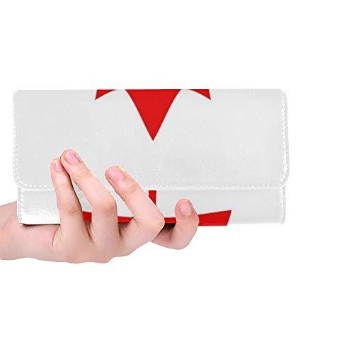 Einzigartige benutzerdefinierte Kanada Flag Icon Frauen Trifold Wallet Lange Geldbörse Kreditkarteninhaber Fall Handtasche