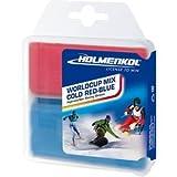 Holmenkol Worldcup Mix Cold - Cera para esquís y tablas de snowboard, color rojo y azul