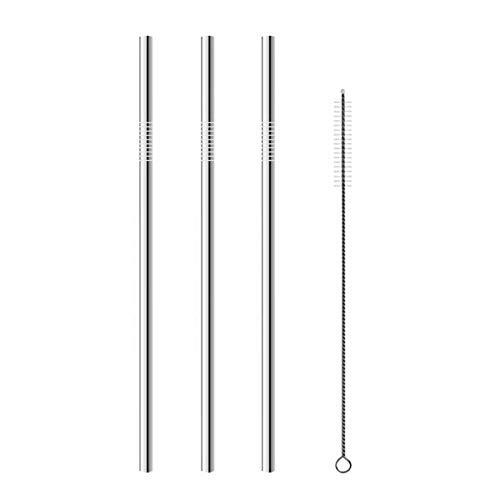 Macxy - 04.02 / 8Pcs Trinkhalm Wiederverwendbare Strohhalme mit sauberen Pinseln Set Eco Friendly Edelstahl-Metall Straw Für Tassen [Upright4PC 2pc] preisvergleich
