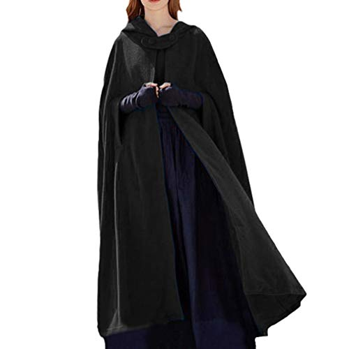 n Robe Herbst Winter Lang Umhang Lose Volltonfarbe Strickjacke Outwear Halloween Fasching Kostüm Robe Cosplay Weihnachten Umhang Mantel Plusgröße S-XL ()