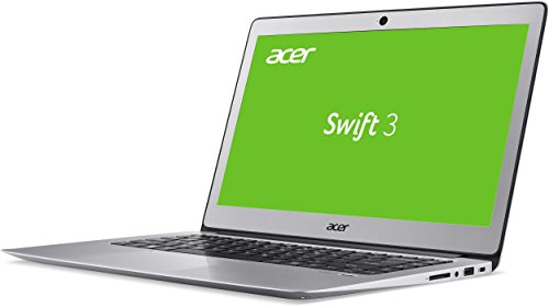 Acer Swift 3 SF314 51 36R6 356 cm 14 Zoll comprehensive HD IPS Notebook Intel central i3 6100U 4GB RAM 128GB SSD Intel HD Graphics 520 Win 10 household silber Notebooks