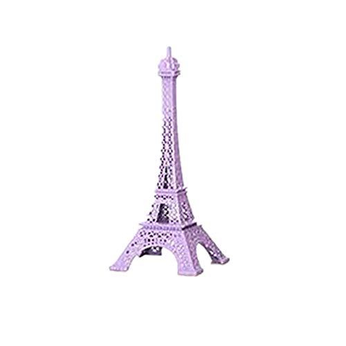 Kangsanli Desktop Decor Paris Eiffelturm Statue Antik Figur Home Decor Retro Metall Craft Retro Antik Bronze Eiffelturm Modell Violett