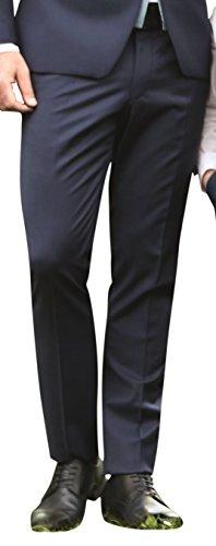 Wilvorst Hose zum Hochzeitsanzug der Marke, blau, in einem uninahen Serge Nouveau, Drop8, Super-Slimline Größe 110