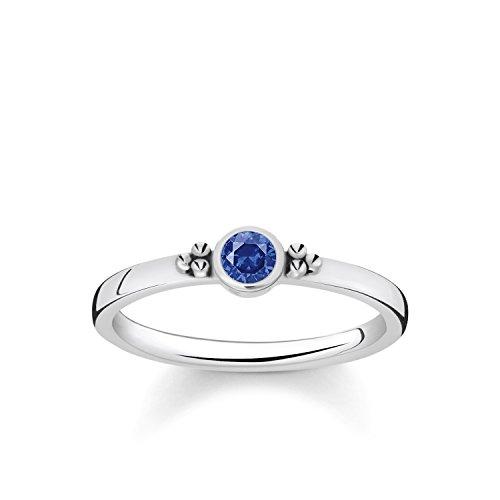 Thomas Sabo Damen-Verlobungsringe 925 Sterlingsilber mit Brillantschliff Spinell \'- Ringgröße 54 (17.2) TR2154-638-32-54