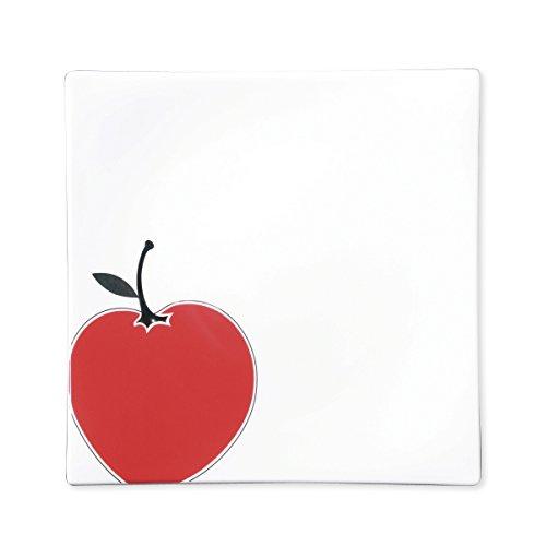 Bruno Evrard Assiette Dessert en Porcelaine 21cm - Lot de 6 - Apple