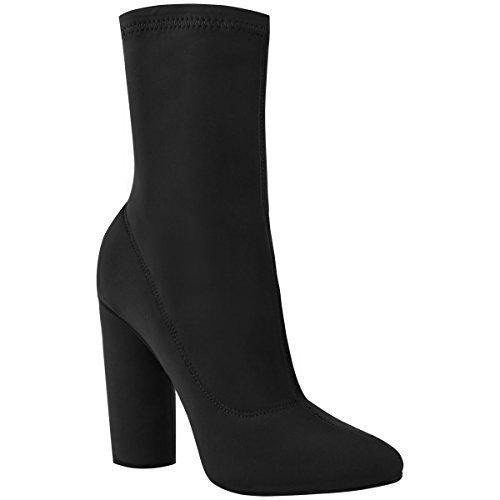 femmes-talons-blocs-hauts-elastique-lycra-bottine-coupe-large-celebrite-taille-lycra-noir-fr-37