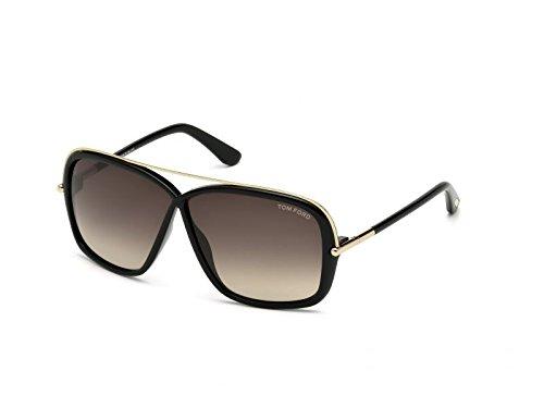 Tom Ford FT0455 C62 01K (shiny black / gradient roviex) Sonnenbrillen