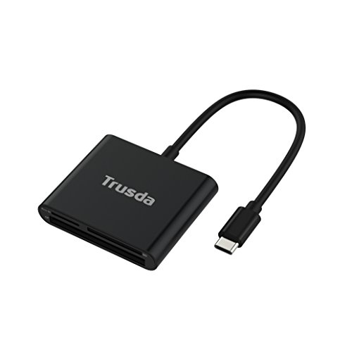 Lettore di Schede SD,Trusda Type C Lettura Schede,Card Reader Memoria Micro SD/TF/SDHC/SDXC/CF con Cavo USB C Superspeed 5Gbps per Macbook Pro,Chromebook Pixel,HUAWEI P9/P10,Mate10, Samsung Galaxy S8