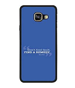 printtech Cool Quotes Life Back Case Cover for Samsung Galaxy A5 (2016) :: Samsung Galaxy A5 (2016) Duos with dual-SIM card slots