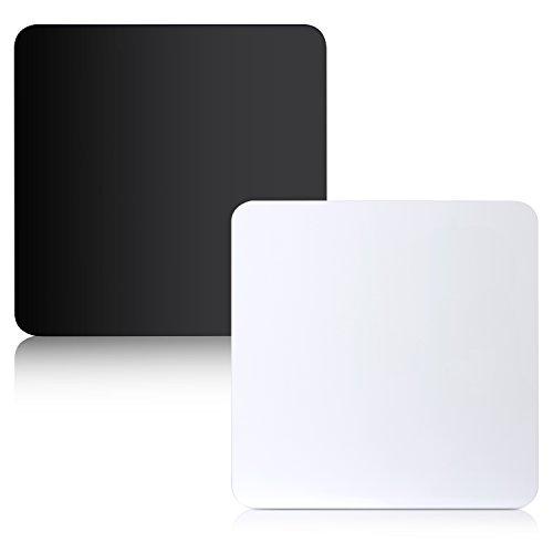 ierend Anzeigetafel für Tischplatte Produktfotografie, 40 X 40cm (Schwarz und Weiß) ()