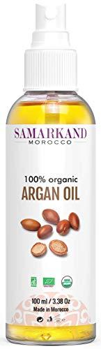 BIO Arganöl 100% Rein Kaltgepresst mit Öko- für Haut & Haar - Das Original aus Marokko (100 ml) -