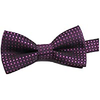 LridSu Fashion Dots Bow Ties Kinder Pre-gebunden Bowties für Kinder Jungen Kinder (Dark Purple)