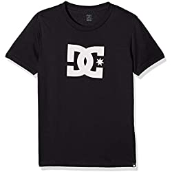 DC Shoes Star SS Boy Camiseta, niños, Negro (Anthracite Solid), 12/M