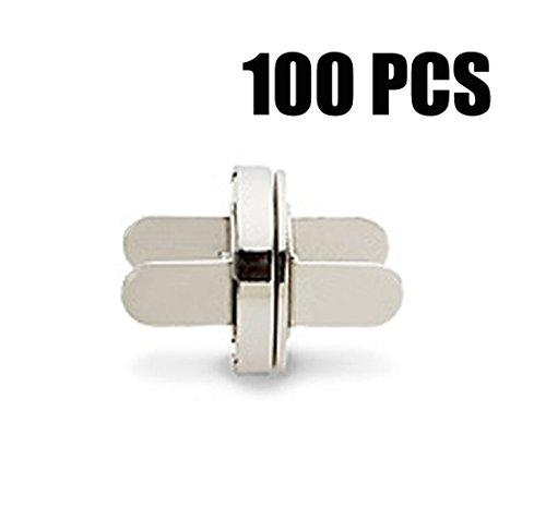 YoGou Magnetknöpfe Magnet Schließe magnetischer Verschluss Spangen für Kleidung Taschen Mappen 14 mm Durchmesser Silber 100 Stück (Tasche Magnete)