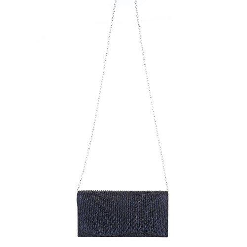 Taschen Used Optik Schultertasche Dunkelblau