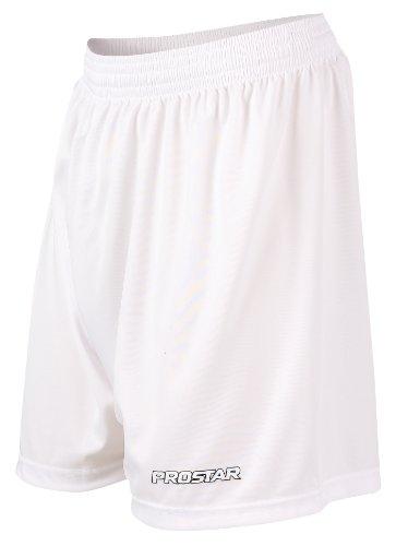 Prostar - Kiev, Pantaloni da calcio corti da adulto, unisex Bianco