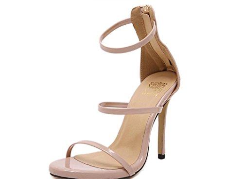 Scarpe XDGG donne romane dei sandali tacco alto Oro Argento nero nudo 39 36 35 38 40 37 nude