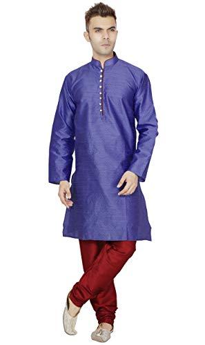 SKAVIJ Kurta Pyjama Men indisch langarmhemd schwarz Designer traditionelle Casual wear Outfit -m