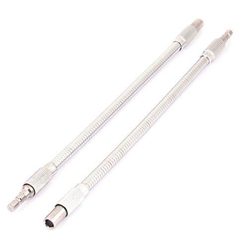 Preisvergleich Produktbild Sourcingmap a15121900ux1672300mm Länge Flexible Verlängerung Schraubendreher Bit–Silber Ton