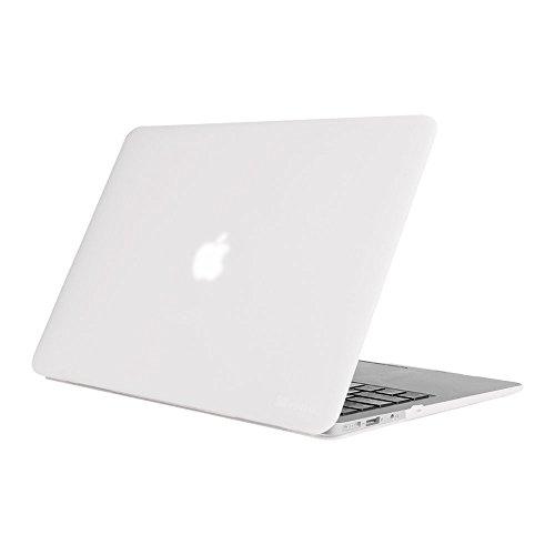 acBook Air 13 - Ultradünne Hochwertige Matt Gummierte Hartschale Tasche Schutzhülle Snap Case für Apple MacBook Air 13.3 Zoll (A1466 / A1369), Frost Klar ()
