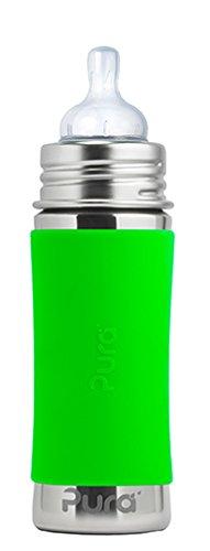 Puro Grün (Pura kiki Babyflasche Edelstahl grün 325 ml)
