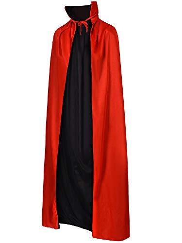 Reversible Kinder Kostüm - Tatuo Unisex Vampir Umhang Vampire Cape Reversible Cape für Halloween unter dem Motto Party Erwachsenen Mantel Zubehör, 55 Zoll Länge