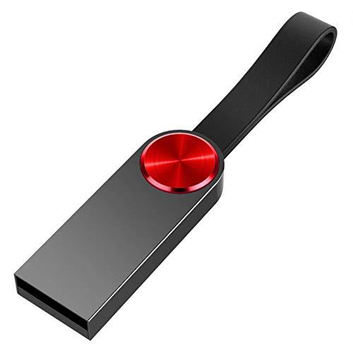 USB-Stick Flash Drive Metall Wasserdicht USB 2.0 U Festplatte 4/8/16/32/64 / 128GB HochgeschwindigkeitsüBertragung 33,3 * 12,2 * 4,9 Mm Klein Und Tragbar Computer Auto Mit Stereoanlage (64GB)