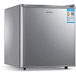 réfrigérateur à Porte Simple, congélateur, 50L, Maison économe en énergie, Silencieux, et congelé, Argent, 44x45x49cm, adapté aux célibataires, aux Couples
