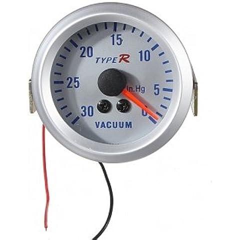 2 \ 52 millimetri Silver Dial 12V Vacuometro Pointer Meter