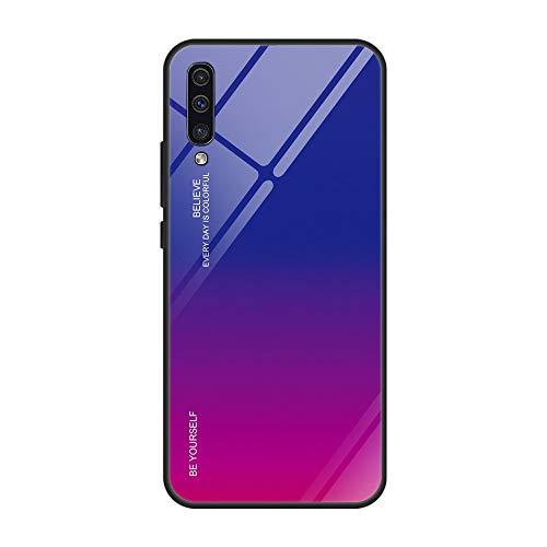 14chvier Kompatibel mit Galaxy A50 Hülle, Handyhülle A50 Premium Gehärtetes Glas Schutzhülle Harte Case Ultra dünn Glashülle Schutz Tasche Schale Hardcase für Galaxy A50 (02) (Glas Hart)