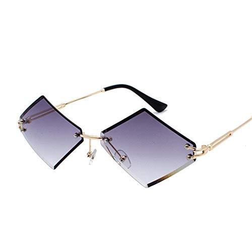 DAIYSNAFDN Sonnenbrillen mit kleinem Rahmen und Sonnenbrille für Frauen Doublegray