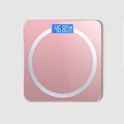 GGPUS Körperfettwaage, intelligente BMI-Waage, Digitale Personenwaage, Haushaltsgesundheit, wiederaufladbarer USB-Anschluss, Gesundheitsmonitor, max,Pink