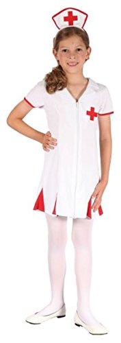Kinder Krankenschwester Kostüm (P 'tit Clown Kostüm Kinder Krankenschwester–Mehrfarbig)