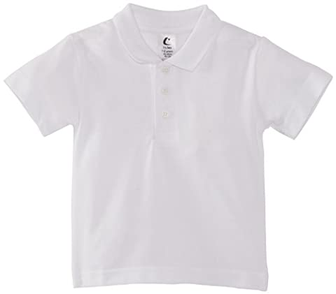Trutex Unisex Short Sleeve Polo Shirt, White, 1-2 Years (Manufacturer Size: 18-19