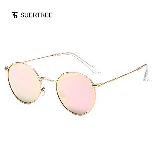 Suertree Sonnenbrille UV400 Schutz Unisex Shades niedliche Arme Brille Damen Herren Ultraleicht Rahmen JH9025