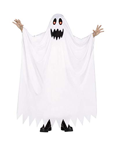 Horror-Shop Geisterkostüm mit leuchtenden Augen für Kinder S