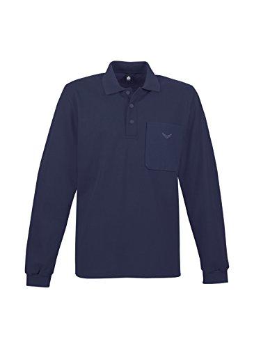 Trigema Damen Langarmshirt Trigema Damen Langarm Polo-shirt Blau (blau 046)