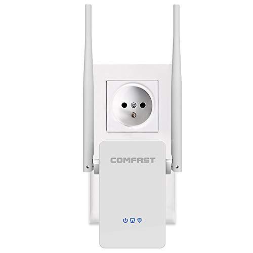 COMFAST WiFi Repetidor Amplificador de WiFi 300Mbps Extensor de Red WiFi Inalámbrico (Modo Enrutador/Repetidor/Ap, 2,4G, Dos Antenas, WPS, Puerto Ethernet, Versión Actualizada)