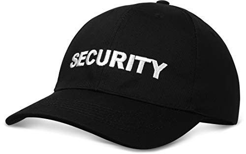 Casual Baseball Cap Mütze, eingestickter SECURITY Schriftzug, Schnappverschluss