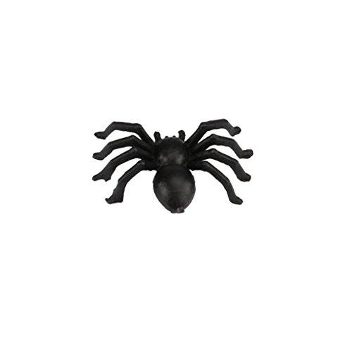 Spinnenspielzeug, HARRYSTORE 1PC Plastikspinnen Trick Spielzeug für Halloween Partei Frequentierte Haus Stütze Dekor (Schwarz)