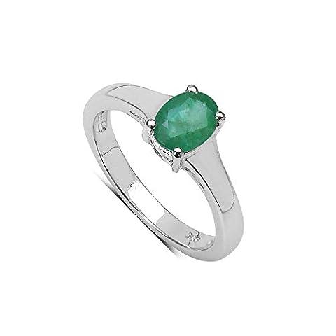 Silvancé - Women's Ring - 925 Sterling Silver - Genuine Emerald - R11484ZE_SSR_17