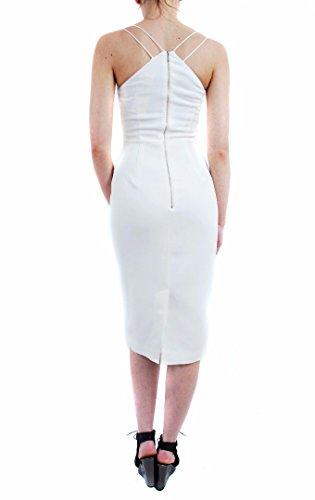 Sublime Mid Calf Robe ? bretelles Blanc Keepsake femmes Blanc