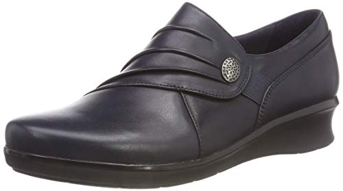 Clarks hope roxanne, mocassini donna, blu (navy-), 38 eu