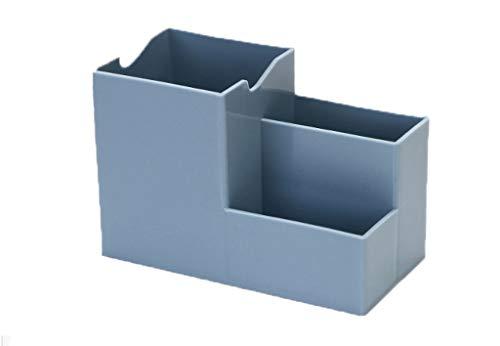 Büro Aufbewahrungsbox Stifthalter/Multifunktionale Office Desk Supplies Organizer/Desktop Aufbewahrungsbox Dekorative Nachttisch Caddy für Zuhause/Arbeitsplatz/Schreibwaren-Blau-10x15x7.5cm (Nachttisch Caddy Veranstalter)