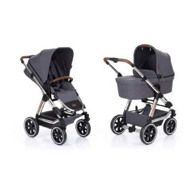 ABC Design Kombi-Kinderwagen Viper 4 - Diamond Edition 2019 inkl. Babywanne und Buggy-Sitz - Grau